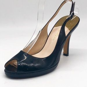 Cole Haan Nike Air Patent Peep Toe Slingback Shoe